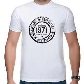 Koszulka Made in Poland z rokiem urodzenia