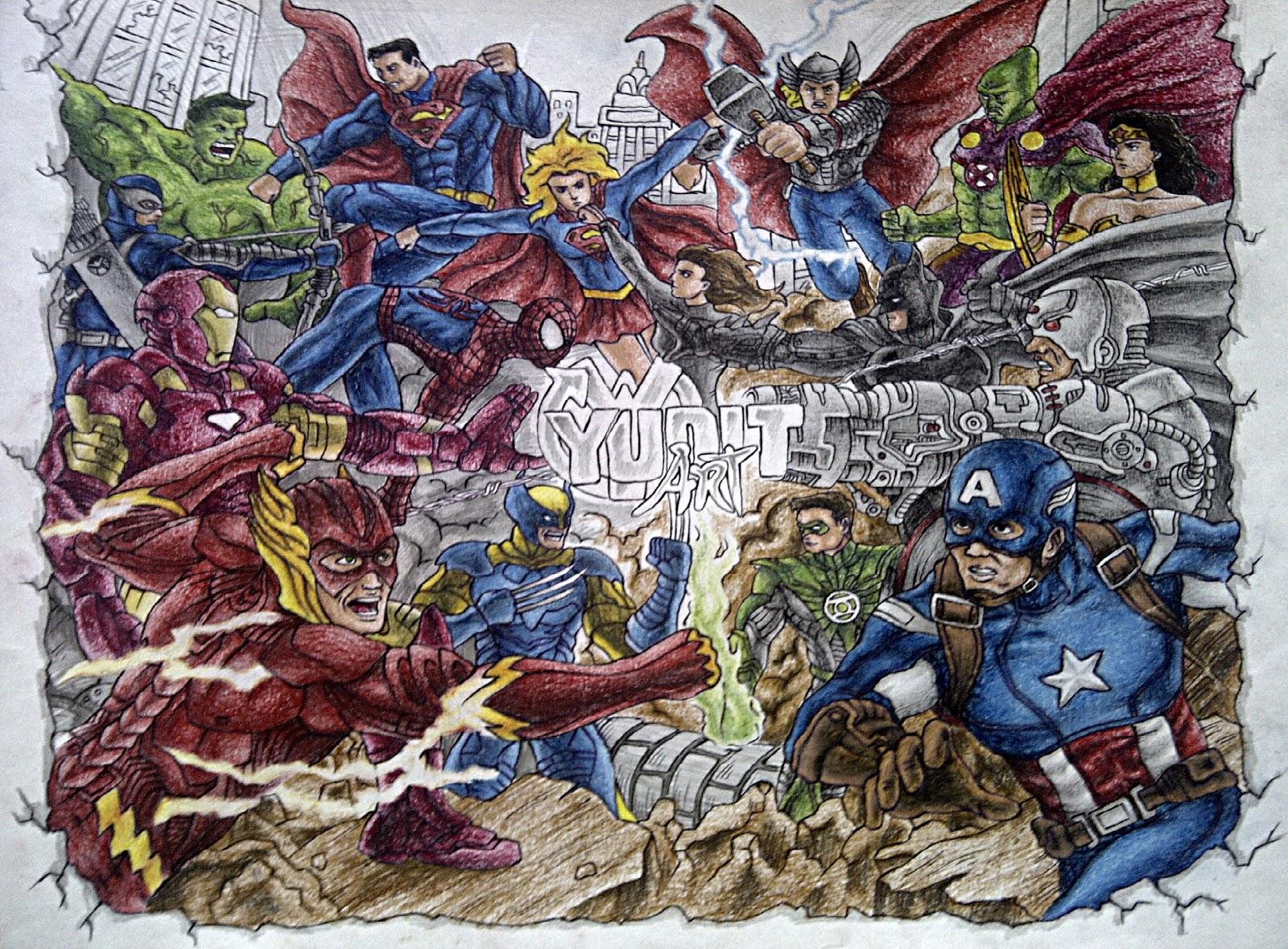 perbedaan marvel dan dc heroes ~ yudit art