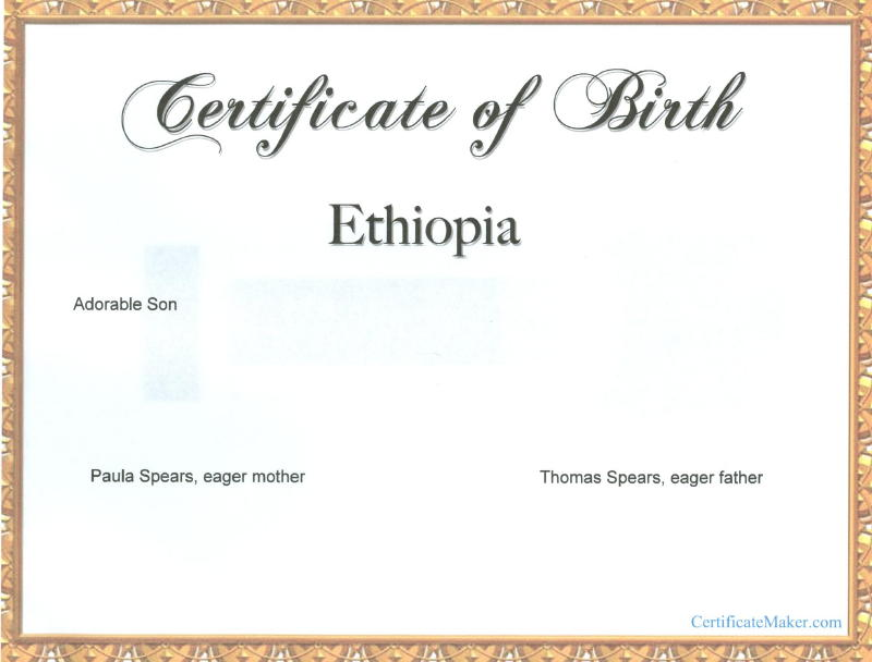 fake birth certificate templates
