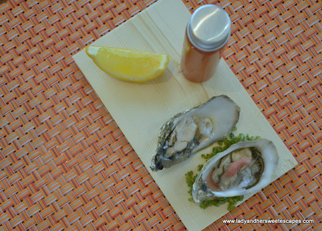 oysters with bloody mary at Fairmont Ajman brunch