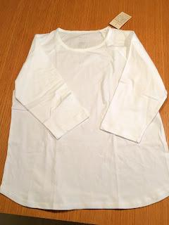 無印良品白のシャッツ
