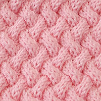 Basket Weave pattern is worked in the round. Intermediate knitting skills would be needed. - KnittingStitches.org