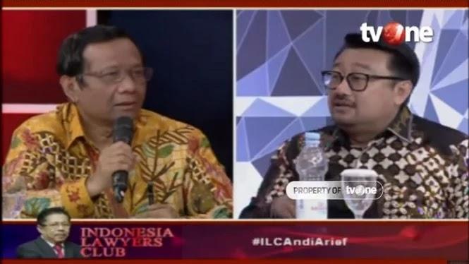 """Mahfud MD Dinilai Sebar Hoaks Soal AA """"Tremor Tangan"""" di ILC"""