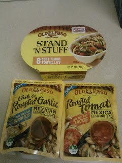 Old El Paso Stand N Stuff Soft Flour Tortillas and Mexican Cooking Sauce