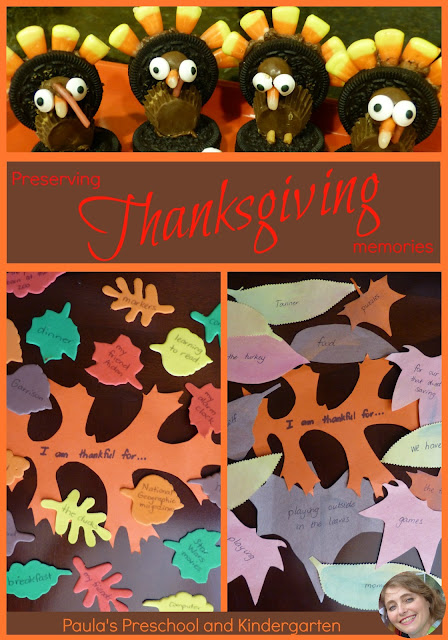 Preserving Thanksgiving memories, with Paula's Preschool and Kindergarten