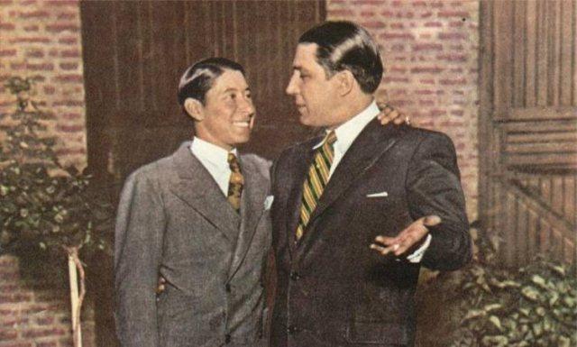 Irineo Leguisamo y Carlos Gardel juntos
