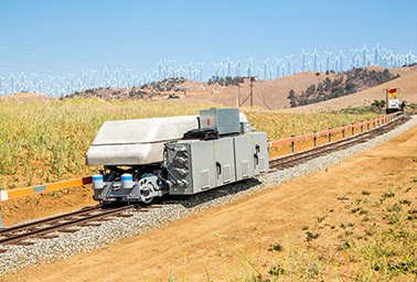Heavy going: A pilot project in the foothills of California demonstrates how gravity can store excess electricity. (Credit: ARES) Click to enlarge.