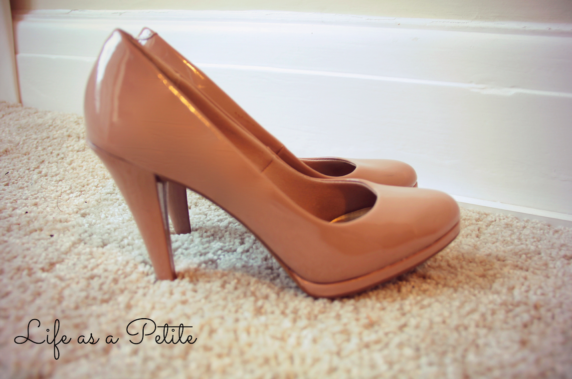 Mid-Heel Nude Pumps (life as a petite)