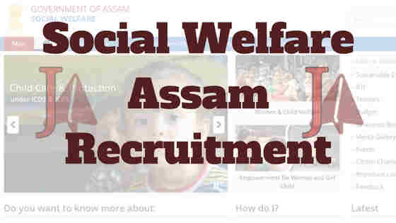 Social Welfare Department Assam Recruitment 2018