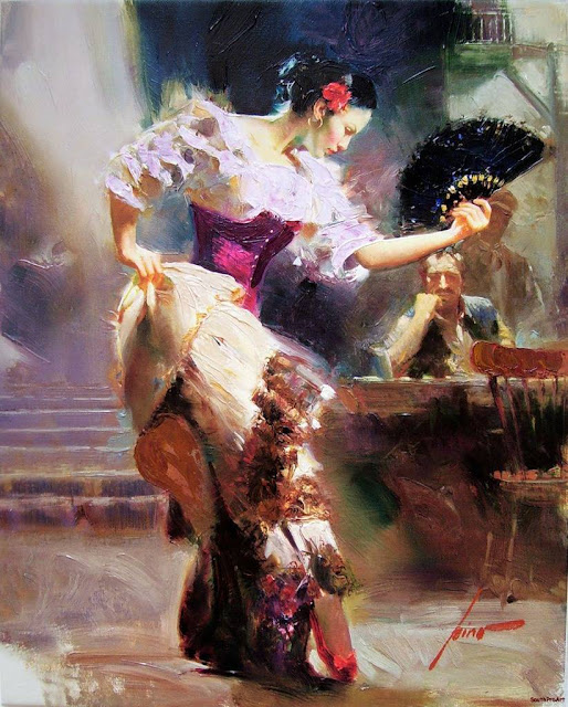 "Lovely Paintings By Italian Impressionist Painter -""PINO"""