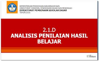 Analisis Penilaian Hasil Belajar Kurikulum 2013 Revisi 2016 Terbaru Gratis