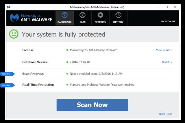 تحميل و تفعيل اخر اصدار من برنامج الحماية Malwarebytes Anti Malware