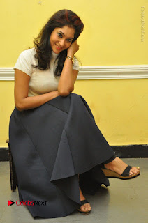 Telugu Actress Sindhu Affan Latest Pos in Black Skirt at Www.Meena Bazaar Movie Opening  0039.JPG