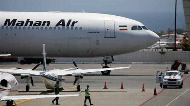 Iran's second largest airline Mahan Air  launch direct flight to Venezuelan capital Caracas amid US sanctions