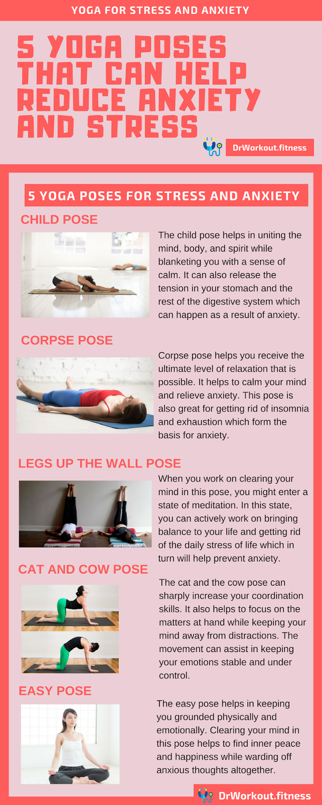 Yoga poses for stress and anxiety