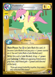 My Little Pony Fluttershy, Growing Up Marks in Time CCG Card