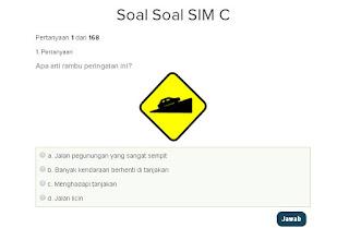 Contoh Soal Latihan SIM C