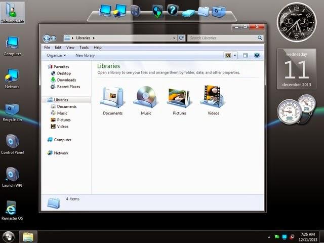 Windows 7 Black Platinum