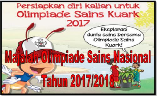 Majalah Olimpiade Sains Nasional Tahun 2017/2018