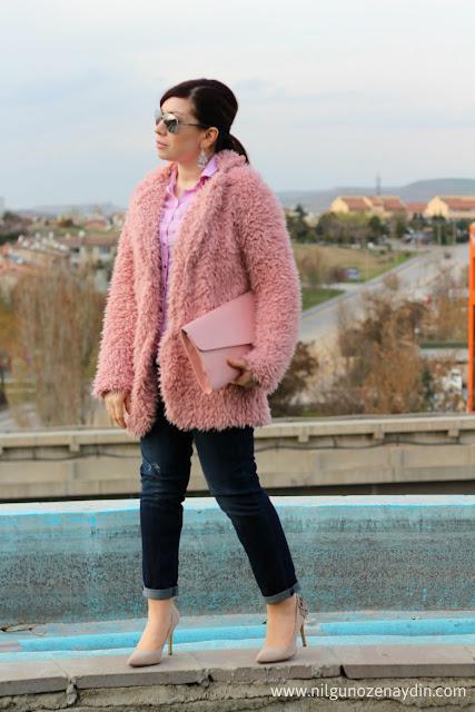 www.nilgunozenaydin.com-pembe kürk-pink faux fur coat
