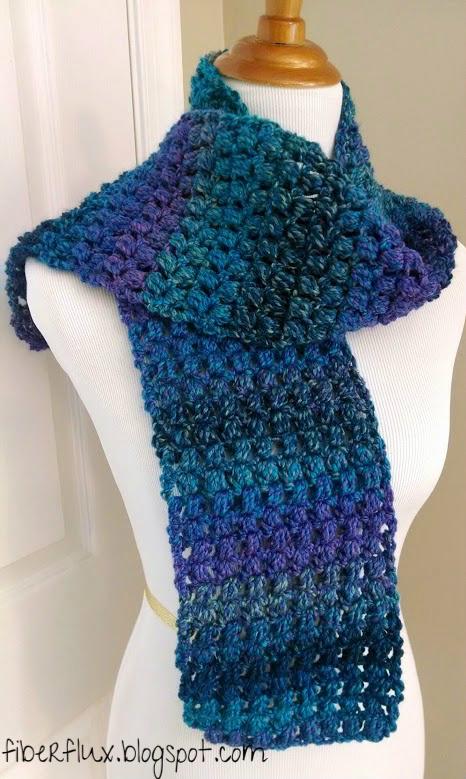 Fiber Flux Free Crochet Patterneedy Puff Stitch Scarf