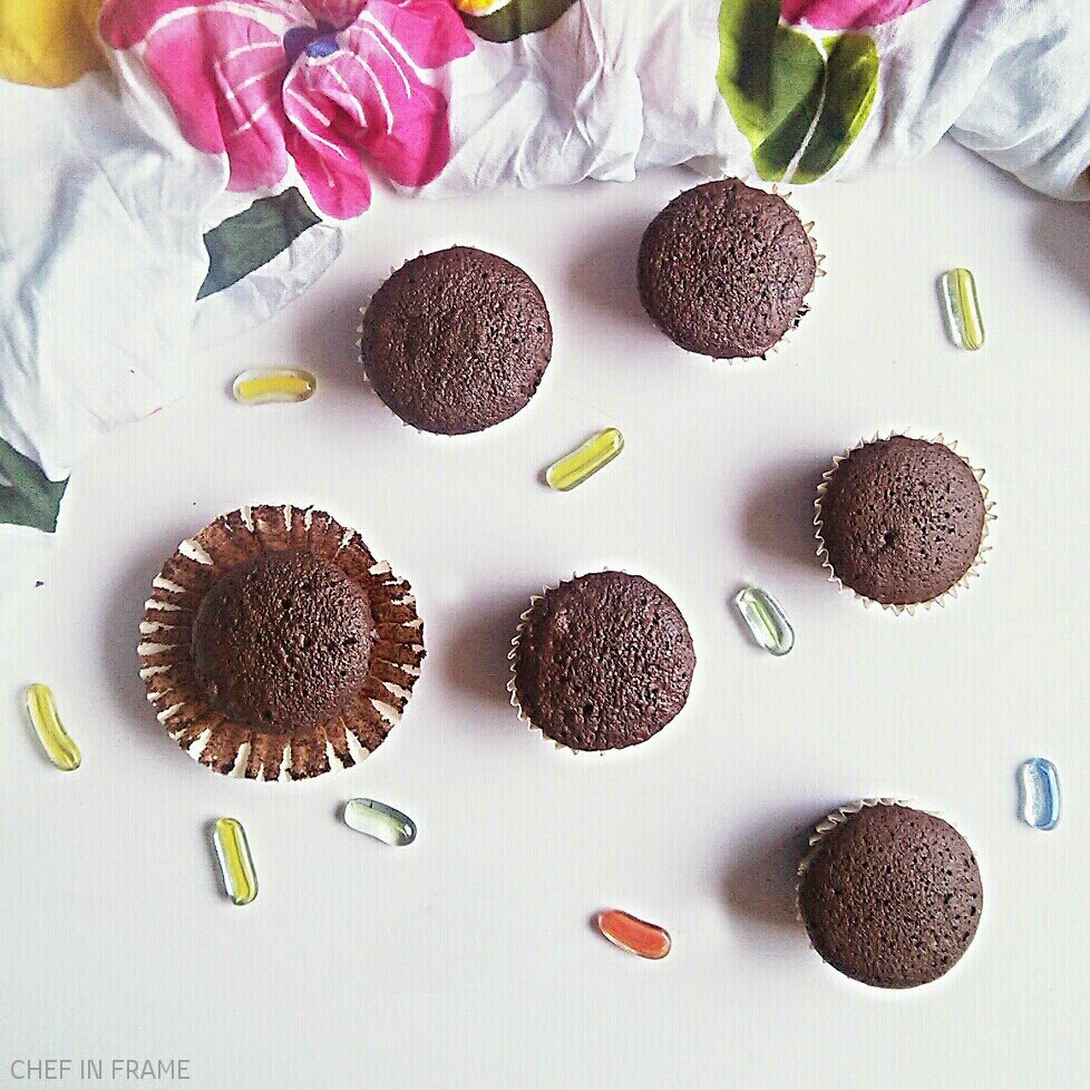 Easy Chocolate Cupcakes Recipe, butter-less Chocolate Cupcakes