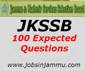 100 Most Expected Questions J&K GK Questions for JKSSB Exam
