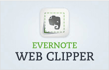 Evernote web clipper extension for Google Chrome