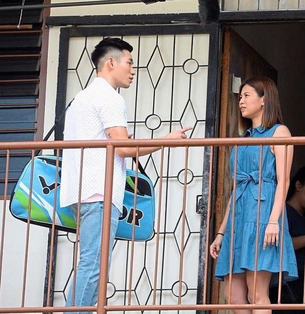 In the spotlight: Chan and Liu Ying shooting a scene for their film at the Wangsa Maju Flats in Kuala Lumpur.