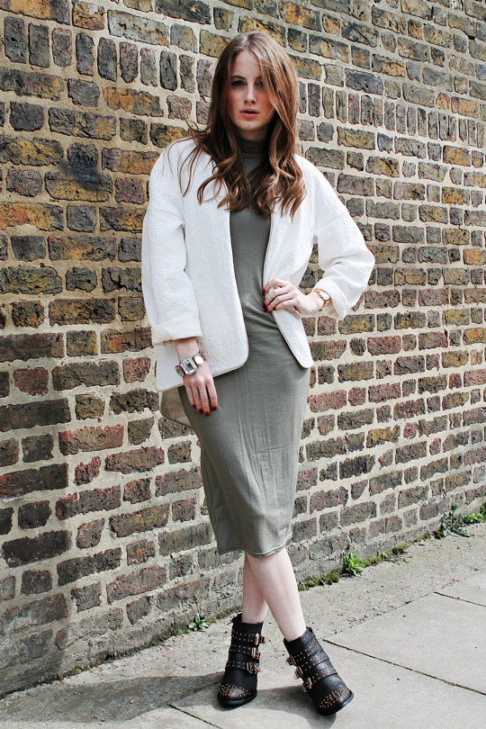 Dress,  Green, High Neck, Made In Chelsea, MIC, Midi Dress, Missguided, Rosie Fortescue, Zara
