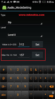 audio mode setting Change the Value of max Vol.0-160. You can set the value to 157 and then tap SET