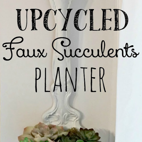 Thrift Shop Flip - Upcycled Faux Succulents Planter