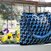 Double-Coloured Crochet Bag blue