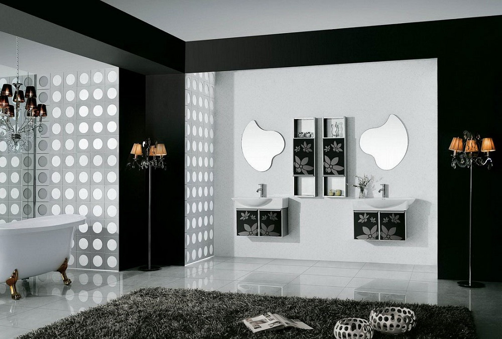 Black And White Bathroom Design To Get The Best Combination In Modern Style