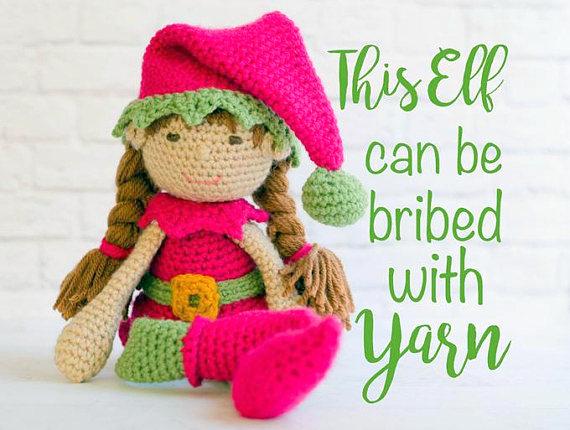 Amigurumi Christmas Elf Crochet Pattern | 430x570