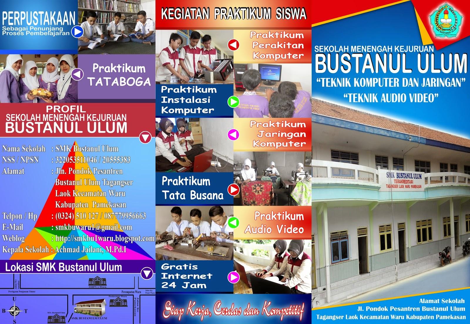 Telah dibuka pendafatar peserta didik baru tahun 2015/2016 Sekolah Memenengah Kejuruan (SMK) Bustanul Ulum Tahun pelajaran 2015/2016