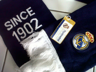 Logo Real Madrid bordir dan Since 1902 rajut