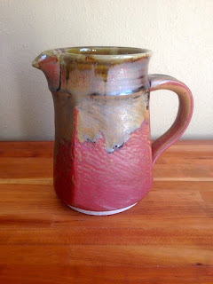 Squared ceramic pitcher by Lori Buff