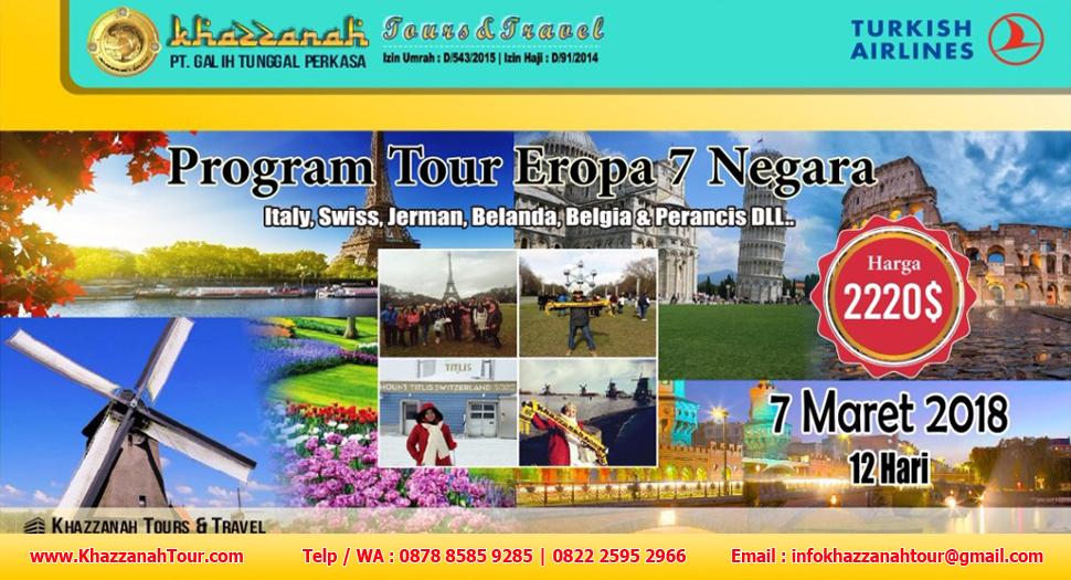 Khazzanah Tours Eropa 7 negara