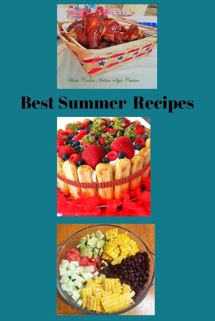 a collection of summer food recipes