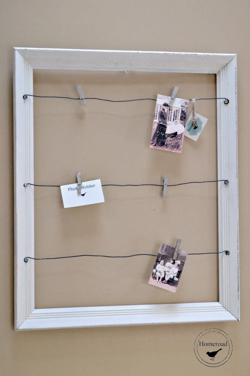 White Framed Photo Display