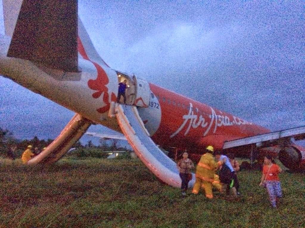 Pesawat Air Asia Zest Tergelincir di Kalibo,Filipina,