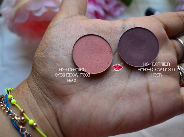 High Definition Eyeshadow, Hean Cosmetics, #303, #309, Maquillalia,