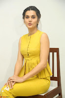 Taapsee Pannu looks mesmerizing in Yellow for her Telugu Movie Anando hma motion poster launch ~  Exclusive 015.JPG