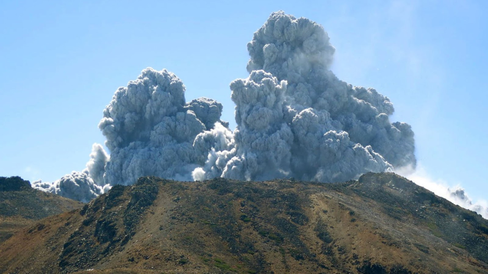 Japan's volcano Ontake erupted in central Japan