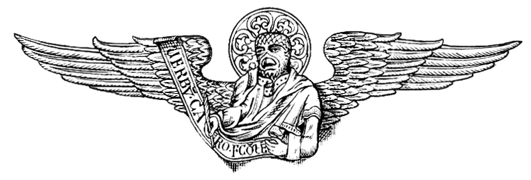 Four Evangelists Represented: The winged man, the lion