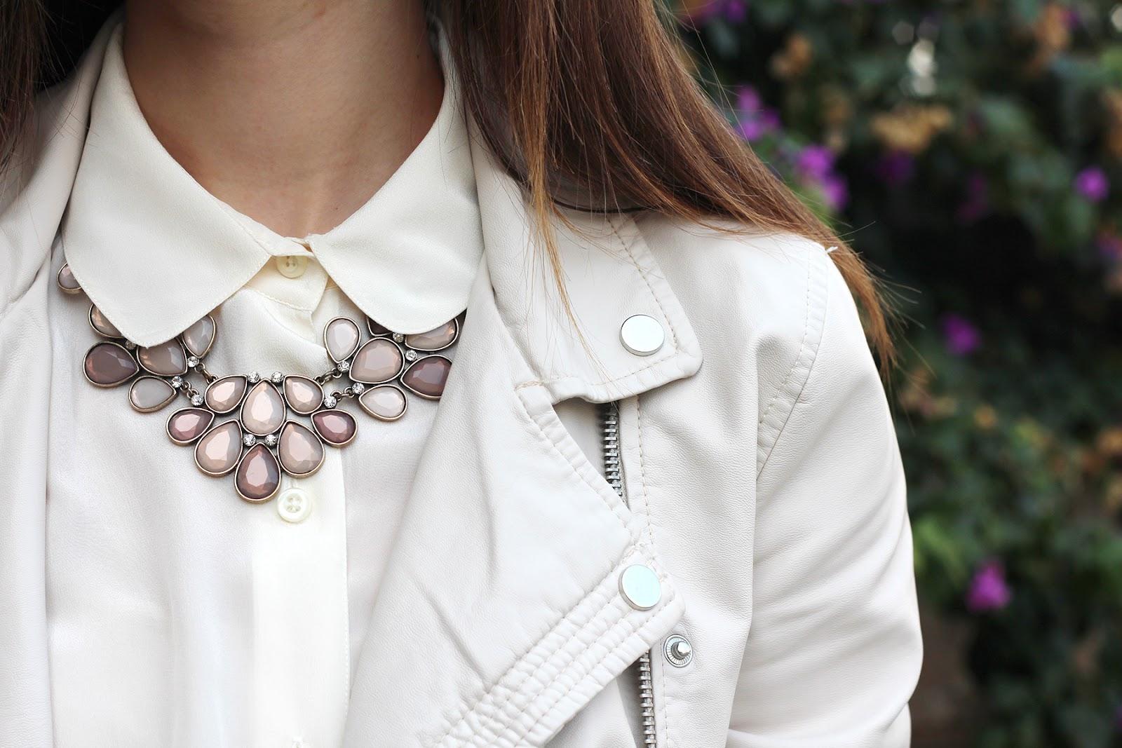 collana necklace bijou brigitte cream outfit ootd fashion girl blogger