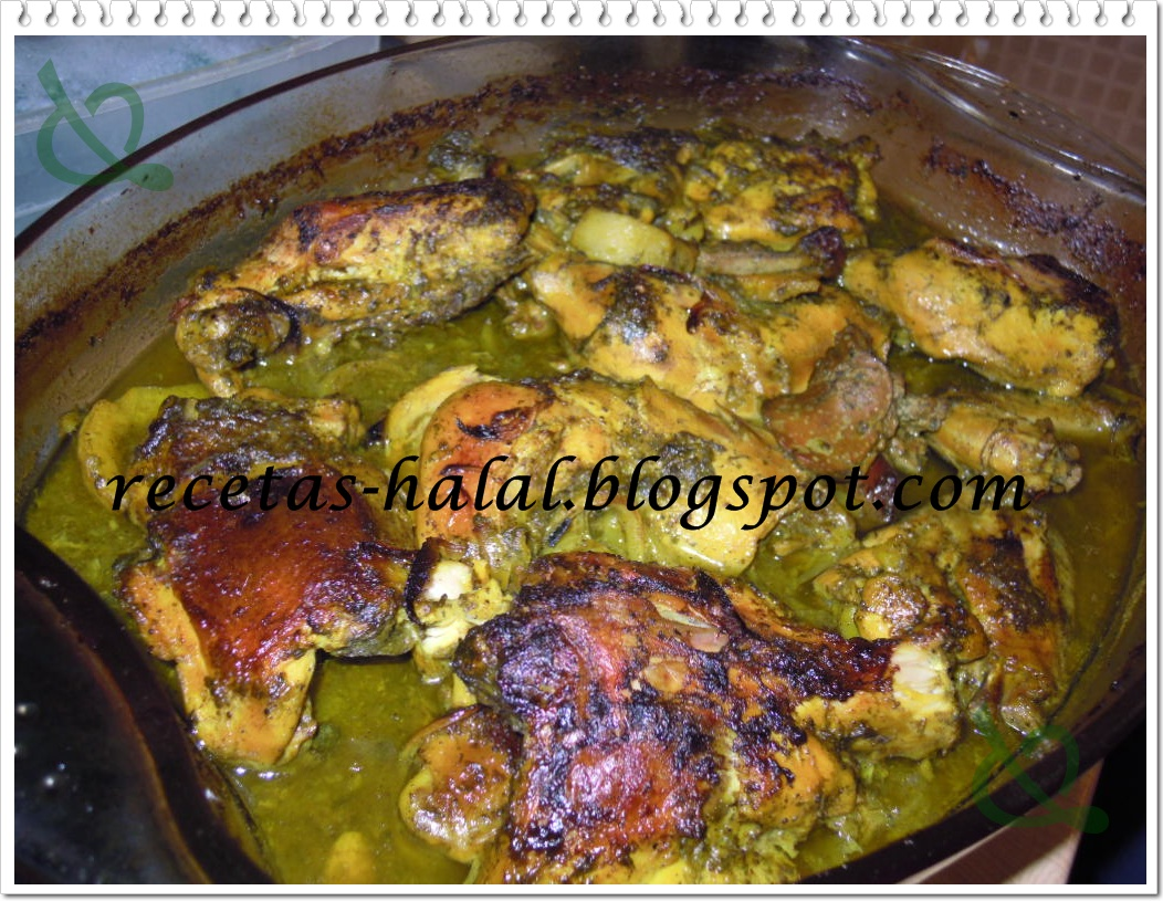 Mi rinconcillo de cocina halal: Pollo al limón al horno.