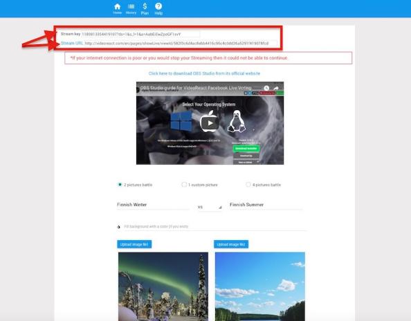 Automatically generate «Stream Key» and «Stream URL»