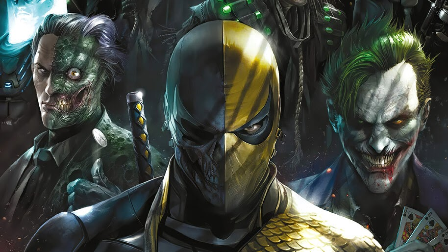DC, Supervillains, Deathstroke, Joker, Two Face, Scarecrow, 4K, #6.1217